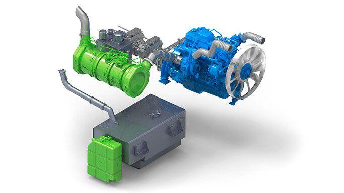 PowerBully 18T Zeichnung des Motors