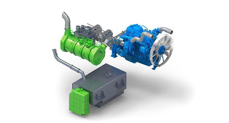 Der Motor des kettengetriebenen Geräteträgers PowerBully 18T
