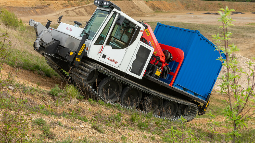 PowerBully track carrier in use on rough terrain