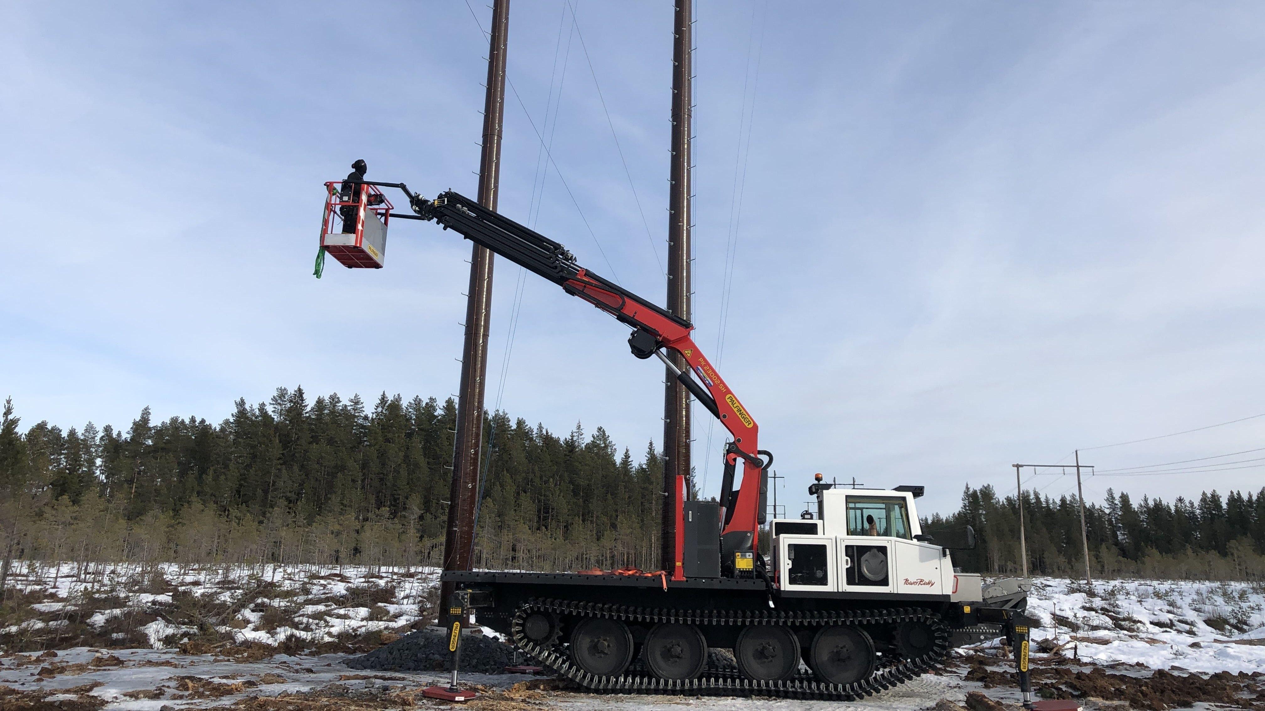PowerBUlly Geräteträger: Einsatz an Stromtrassen
